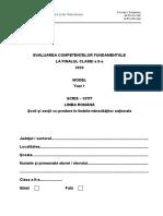 En II 2020 Scris Citit Lb Romana Minoritati Model Test 1