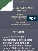 Chap3 La Maintenance Corrective ''