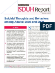 Suicidal Thoughts and Behaviors Among U.S. Adults, 2008 and 2009