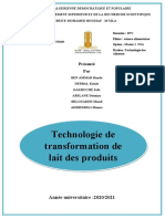 Technologie de Transformation Des Produits Laitieres