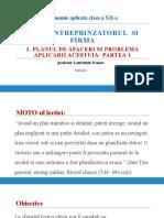2.4-Planul de Afaceri Si Problema Aplicarii Acestuia- Partea 1