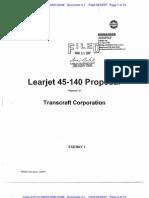 CUNNINGHAM CHARTER CORPORATION v. LEARJET, INC. Complaint Exhibit Contracts