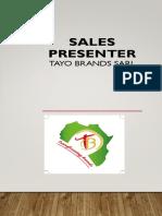 sales Presenter Tayo brands 2