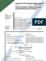 NBR 11582 - 1991 - Cimento Portland - Determinação da expansibilidade de Le Chatelier
