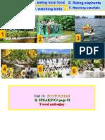 Unit 10 Ecotourism Lesson 4 Speaking TG