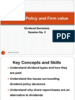 Session 2 - Dividend Policy and Firm value-PPT
