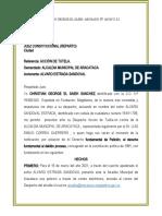 accion de tutela ALVARO SANDOVAL ESTRADA VS ALCALDIA MUNICIPAL ARACATACA