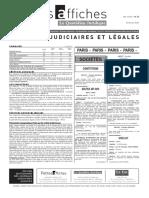 Petites Affiches - Annonces Légales - 2015-02-27