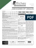 Petites Affiches - Annonces Légales - 2015-03-03