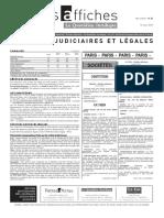 Petites Affiches - Annonces Légales - 2015-03-13