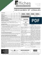 Petites Affiches - Annonces Légales - 2015-03-17