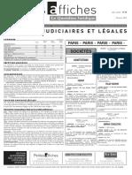 Petites Affiches - Annonces Légales - 2015-03-18