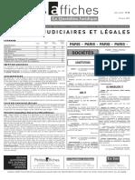 Petites Affiches - Annonces Légales - 2015-03-19