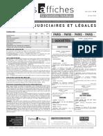 Petites Affiches - Annonces Légales - 2015-03-25