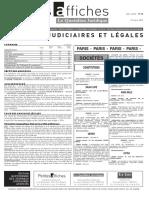 Petites Affiches - Annonces Légales - 2015-03-27