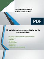 TEMA III.- GENERALIDADES DEL DERECHO SUCESORIO