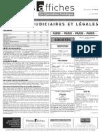 Petites Affiches - Annonces Légales - 2015-04-07
