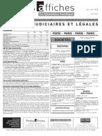 Petites Affiches - Annonces Légales - 2015-04-03