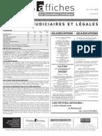 Petites Affiches - Annonces Légales - 2015-04-15