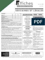 Petites Affiches - Annonces Légales - 2015-04-20