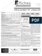 Petites Affiches - Annonces Légales - 2015-04-21