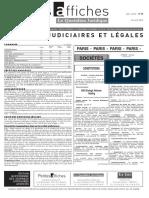 Petites Affiches - Annonces Légales - 2015-04-22