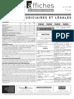 Petites Affiches - Annonces Légales - 2015-04-27