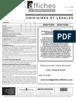Petites Affiches - Annonces Légales - 2015-04-28