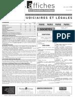 Petites Affiches - Annonces Légales - 2015-04-29