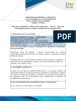 Guia de actividades y rubrica de evaluación - Fase 6 - Plantear Estrategias para la mejora continua de la organización
