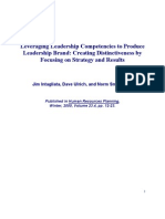 Competencies and Leadership Brand