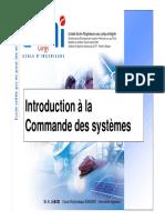 1 Introduction à La Commande Des Systèmes
