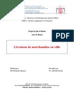 PFE. Livraison de Mses en Ville