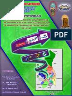 Aproximacion Al Estado Competitivo de Las Empresas Publicas y Privadas Del Sector Alimentos y Bebidas Del Depto de La Paz