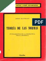 KAUFFMAN, Armin. Teoría de las normas [FINAL]