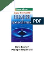 Pași spre longevitate  Boris Bolotov