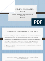 6.1 QUIMICA BASICA DEL AGUA