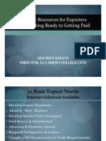 Int Net Export 1 Mod GIO Presentation View