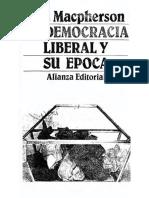 Macpherson C B - La Democracia Liberal Y Su Epoca