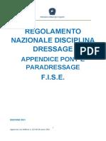 Regolamento Dressage - Appendice Pony e Paradressage 2021 - CF 10 marzo