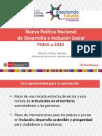 Nueva Política Nacional de Desarrollo e Inclusión Social