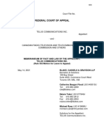 Factum - Federal Court of Appeal