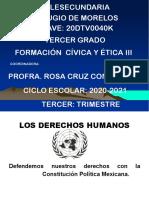 1. Defendemos  nuestros  derechos  con  la Constitución Política Mexicana 3o