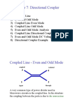 Coupled Line - Even and Odd Mode