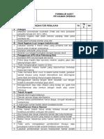 Form Audit Kamar Operasi