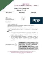 Fórmula Básica de Pinol     2P01-03 070606JMDT