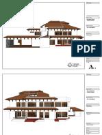 contoh Gambar kerja renovasi rumah tinggal
