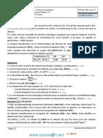 Devoir de Synthèse N°2 - Sciences physiques - Bac Math (2013-2014) Mr barhoumi ezzedine