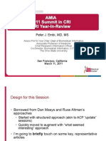 Peter J. Embi, MD, MS, FACP - CRI Year-In-Review