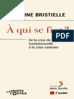 Antoine Bristielle - A Qui Se Fier - De La Crise de Confiance Institutionnelle à La Crise Sanitaire